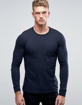 French Connection Long Sleeve Pocket T-Shirt