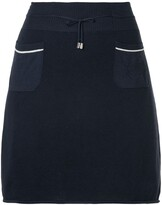 drawstring A-line short skirt