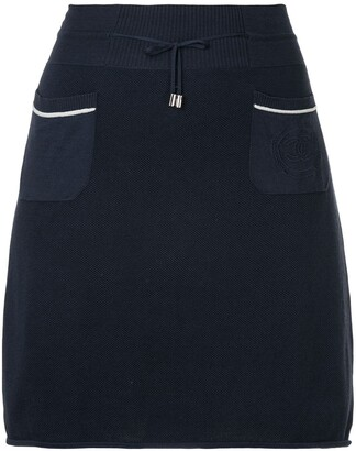 Chanel Pre Owned drawstring A-line short skirt