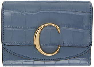 Chloé Blue Small C Trifold Wallet