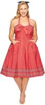 Unique Vintage Plus Size Paisley Print Dress