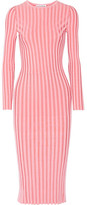 Altuzarra Gramm Ribbed Stretch-knit Midi Dress - Bubblegum