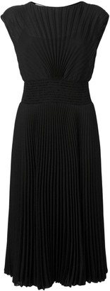 Prada pleated midi dress