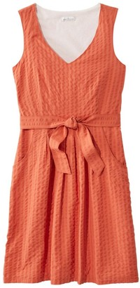 L.L. Bean Women's Clothing Signature V-Neck Seersucker Dress