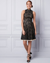 Le Château Lace Mock Neck Dress