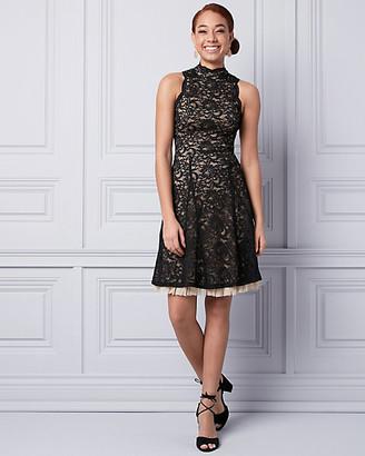 Le Château Lace Mock Neck Dress