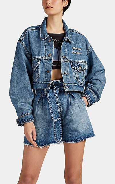 ATTICO RE/DONE + THE Women's Embellished Levi's® Jacket - Blue