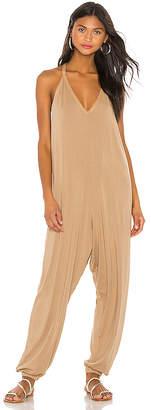Bobi Draped Modal Jersey Jumpsuit
