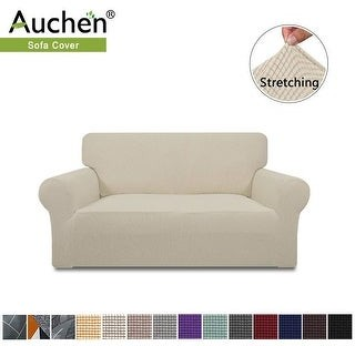 Overstock Auchen Stretch Sofa Slipcover, 1-Piece Jacquard Fabric Couch Sofa cover