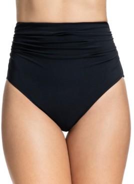 Gottex Tutti Frutti Ruched High-Waist Bikini Bottoms Women's Swimsuit