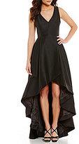 Calvin Klein Taffeta Tulip Hi-Low Dress