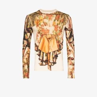 Stefan Cooke Ruffle Floral Print Cotton Top
