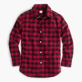 J.Crew Kids' oxford cotton shirt in buffalo check