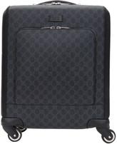 Gucci Black Mini Gg Supreme Trolley Suitcase