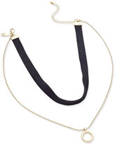 INC International Concepts Gold-Tone Faux-Suede Choker Necklace, Only at Macy's