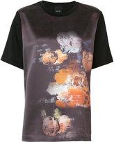 Josh Goot Evening T-shirt - women - Cotton/Silk Satin - XS