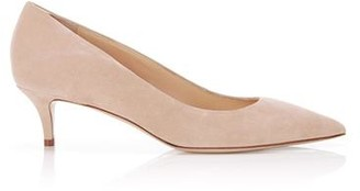 Marion Parke Must Have 45 Sand Suede Kitten Heel Pump