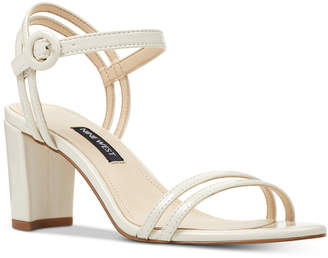 Nine West Piper Two-Piece Block-Heel Sandals Women Shoes