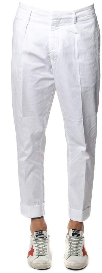 Dondup Frankie White Cotton Pants