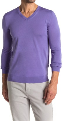 Reiss Earl V-Neck Wool Sweater