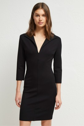 French Connection Ruth Lula Jersey V Neck Dress