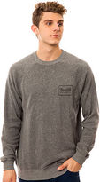 Brixton The Coda Crewneck Sweatshirt in Heather Grey