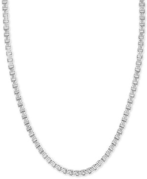 """Effy Men's Box Link 22"""" Chain Necklace in Sterling Silver"""