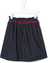 Familiar gathered polka dot skirt