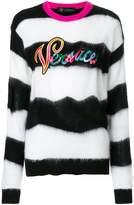 Versace striped logo jumper