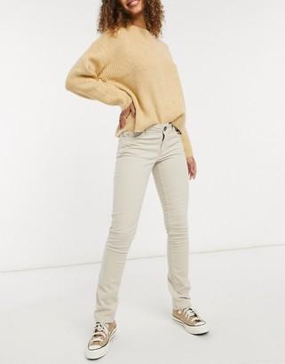JDY skinny cord trouser in beige