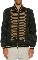 Palm Angels Passementerie Satin Bomber Jacket, Black/Gold