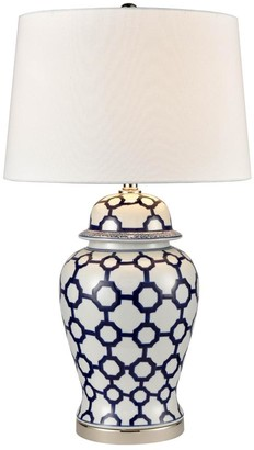 One World Rhode Island Lamp With White Shade