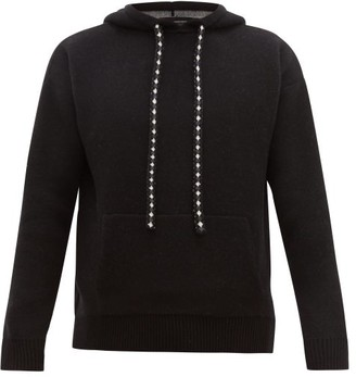 Alanui Paisley-jacquard Wool-blend Hooded Sweater - Black