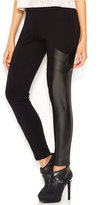 Bar III Faux-Leather Paneled Leggings, Only at Macy's
