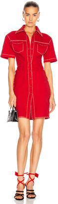 Off-White Denim Dress in Red | FWRD