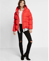 Express down filled short puffer coat