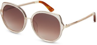 Lottie Champagne Crystal | Brown Gradient Lens