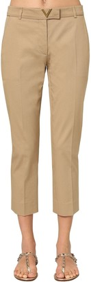 Valentino METAL V LOGO COTTON CANVAS CHINO PANTS