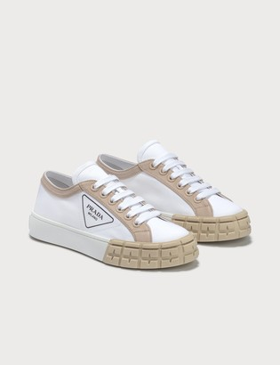 Prada Gabardine Bicolore Low Top Sneaker