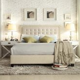 Inspire Q Bellevista Square Button-tufted Upholstered Queen Bed