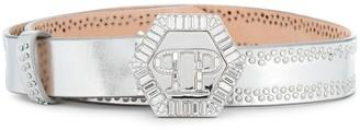 Philipp Plein embellished logo belt