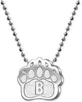 Alex Woo Little Collegiate by Brown Pendant Necklace in Sterling Silver