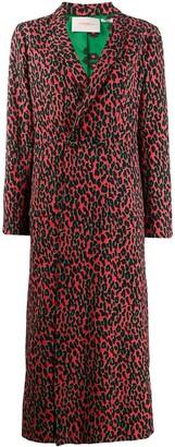 La DoubleJ leopard print duster coat