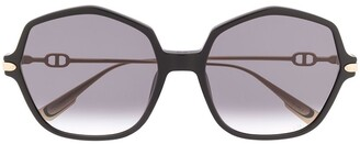Christian Dior DiorLink2 oversize-frame sunglasses