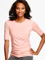 Talbots Ruched-Side Top
