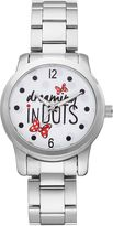"Disney Disney's Minnie Mouse ""Dreaming in Dots"" Women's Stainless Steel Watch"