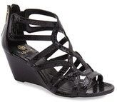 Isola Women's 'Flora' Snake Embossed Wedge Sandal