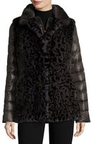 Gorski Reversible Mink Vest & Puffer Jacket, Animal Print