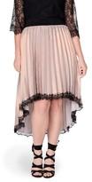 Plus Size Women's Elvi Pleat High/low Shimmer Skirt
