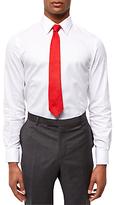 Jaeger Dobby Cotton Textured Slim Fit Shirt, White